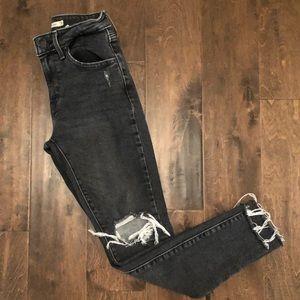 Levi's 721 Distressed Skinny Jeans in Black